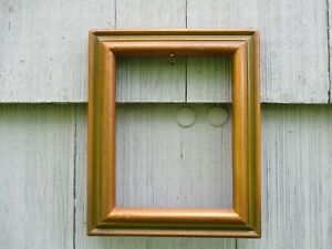 Vintage Mid Century Era Green Gold Wood Picture Frame Fits 7 X 9