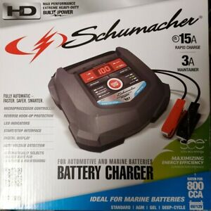 Rapid Automatic Battery Charger 6 12v Charging 15a Maintainer Marine Charge