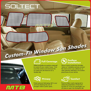 Custom fit Maxpider S1mn0130 For Clubman 16 20 Soltect Sunshade Side rear Window