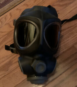 Micronel Safety Face Respirator Nbc 95 Gas Mask Military Police Firefighter Lg