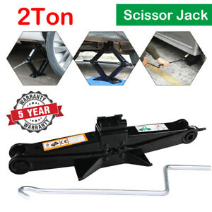 Heavy Duty Scissor Jack Durable 2 Ton Changing Tires Tools For Vehicle Cars Us