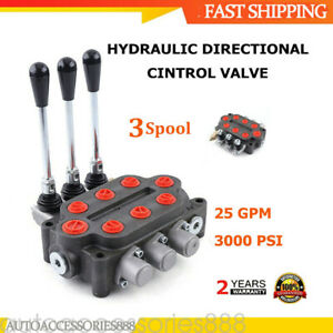 Zt l20 3 Spool 25 Gpm Hydraulic Control Valve Tractors Loaders Double Acting