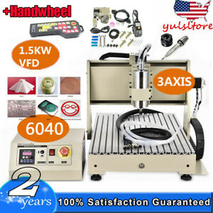 Cnc Router 6040 Engraver Engraving Machine Drilling Carving 3axis 1 5kw With Rc