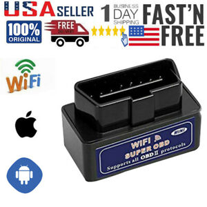 Elm327 Wifi Obd2 Auto Car Diagnostics Scanner Tool Code Reader For Ios Android
