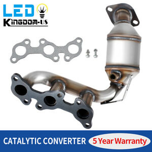 For 2004 To 2006 Toyota Sienna Bank 1 3 3l Manifold Catalytic Converter Fwd Only