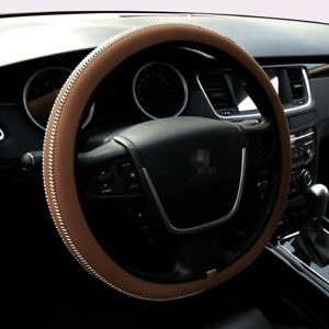 15 Car Steering Wheel Cover Pu Leather Universal Fit Vehicle Protection M