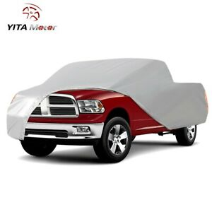 Yitamotor Universal Fit Pickup Truck Cover Indoor Outdoor Auto Protection Silver
