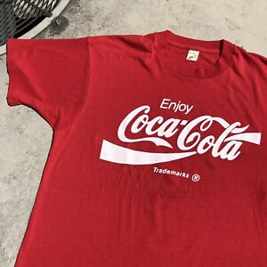 Vintage Coca Cola T Shirt 1980s Screen Stars Large 20x27 *read description*