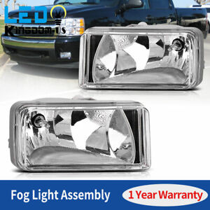 2pcs For 07 13 Chevy Silverado 1500 2500 Hd Tahoe Clear Bumper Fog Light Lamp Us