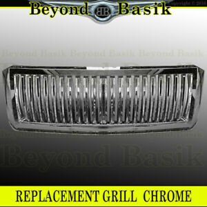 2007 2014 Ford Expedition Vertical Bar Style Triple Chrome Grill
