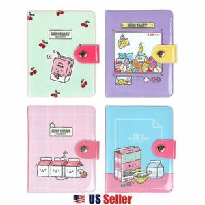 Convenience Store Food Monthly Scheduler Planner Mini Ring Button Diary 1pc