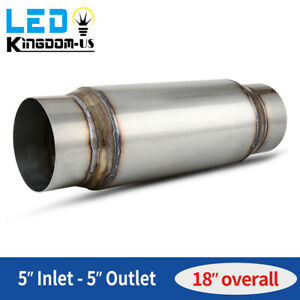 High Performance Muffler 5 Inlet Outlet 18 Long Stainless Steel Silencer