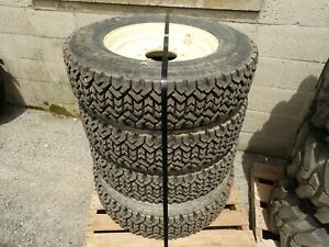 Set Of 4 245 70 R15 Snow Tires On Rims Came Off A Bobcat S570 Skid Steer