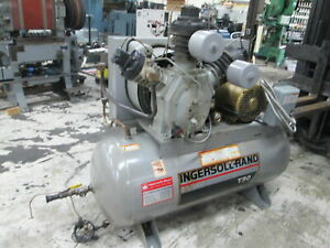 Ingersoll Rand 15t Two Stage Pump 15hp 230 460v 72 Cfm Horizontal Air Compressor