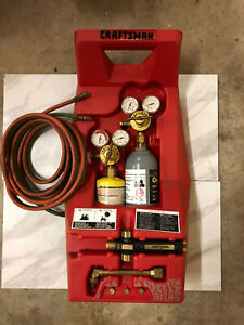 Vintage Craftsman Portable Brazing Cutting Torch Kit With Empty Tanks