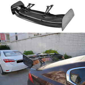 Universal 57 87 Carbon Fiber Double deck Gt Rear Racing Spoiler Lid Trunk Wing