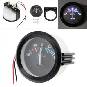 Mini 2 52mm 12v 60 0 60 Amp Voltmeter Ammeter Led Volt Amp Meter Gauge Us