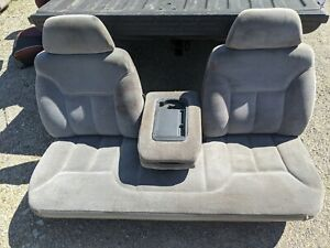 1995 Chevy Gmc Suburban Pickup Front Bench Seat With Flip Down Console