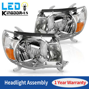 For 2005 2006 2007 2008 2009 2010 2011 Toyota Tacoma Chrome Headlights Headlamps