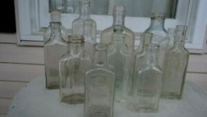 15 Vtg Apothecary Pharmacy Medicine Bottles Rare Rx Green Blue Clear Glass Nice