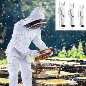 All New Professional Full Body Beekeeping Suit W veil Hood Lg Only