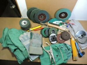 Great Welding Lot Flap Disc Welding Jacket Sleeves Gloves Safety Glasses