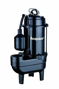 Acquaer 1 2 Hp Durable Cast Iron Sewage Pump With 10ft Power Cord piggy Back