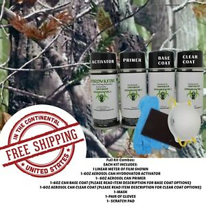 Hydrographic Water Transfer Hydro Dip Kit Activator 1m Tree Camouflage 7 Film