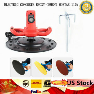 Electric Concrete Cement Mortar Mixer Heavy Duty Powerful Mixing Mortar 380mm