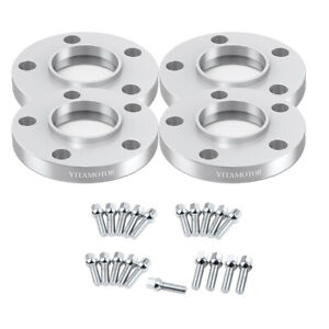 4x 15mm 20mm Hub Centric Wheel Spacer 5x119 38 5x119 38 Cone Seat For Bmw Audi