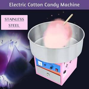 Electric Commercial Cotton Candy Machine Sugar Floss Maker Party Carnival Pink