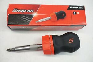 New Snap On Sgdmrc11a Ratcheting Stubby Soft Grip Screwdriver Red