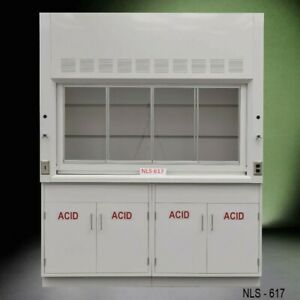 6 Ft Fisher American Chemical Fume Hood W 2 X 36 In Acid Cabinets E2 115