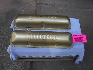 1958 1964 Ford 352 427 Painted Gold Factory Thunderbird Valve Covers 4 Set