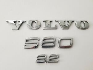 07 13 Oem Volvo S80 3 2 Rear Trunk Boot Lid Chrome Emblem Logo Badge Sign Set