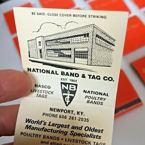 16 Matchbooks Back Strike National Band Tag Co Hasco Livestock Tags Poultry