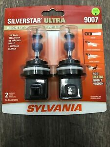 Sylvania Silverstar Ultra 9007 Pair Set High Performance Headlight 2 Bulbs New