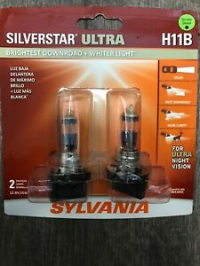 Sylvania Silverstar Ultra H11b Pair Set High Performance Headlight 2 Bulbs New