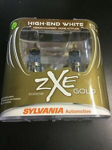 Sylvania Silverstar Zxe Gold High end White H13 Set Of 2 Sealed Bulbs 7940