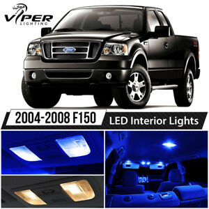 2004 2008 Ford F150 F 150 Blue Interior Led Lights Package Kit