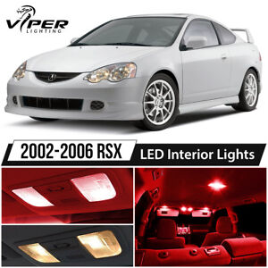 2002 2006 Acura Rsx Red Led Interior Lights Package Kit