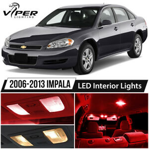 2006 2013 Chevy Impala Red Led Interior Lights Package Kit