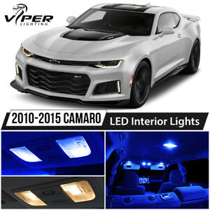 2010 2015 Chevy Camaro Blue Led Interior Lights Package Kit