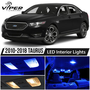 2010 2018 Ford Taurus Blue Interior Led Lights Package Kit License Lights