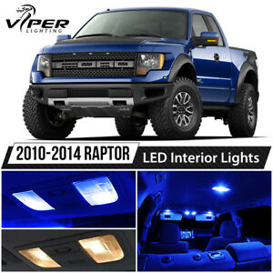 2010 2014 Ford Raptor Blue Interior Led Lights Package Kit License Lights