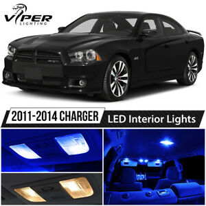 2011 2014 Dodge Charger Blue Led Interior Lights Package Kit