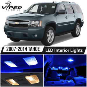 2007 2014 Chevy Tahoe Blue Led Interior Lights Package Kit