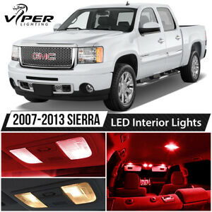 2007 2013 Gmc Sierra 1500 2500 3500 Red Interior Led Lights Package Kit