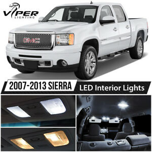 White Led Interior Lights Package Kit For 2007 2013 Gmc Sierra 1500 2500 3500