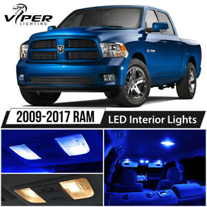 2009 2017 Dodge Ram 1500 2500 3500 Blue Led Interior Lights Package Kit